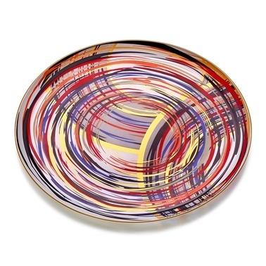 Glore Adriana Mat Altın Cam Tepsi 35X35 Cm Altın
